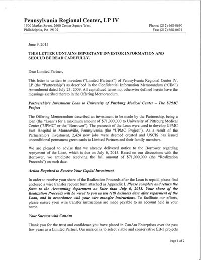 PA 4-Capital Repayment letter to__ Invest